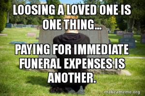 immediate funeral expenses